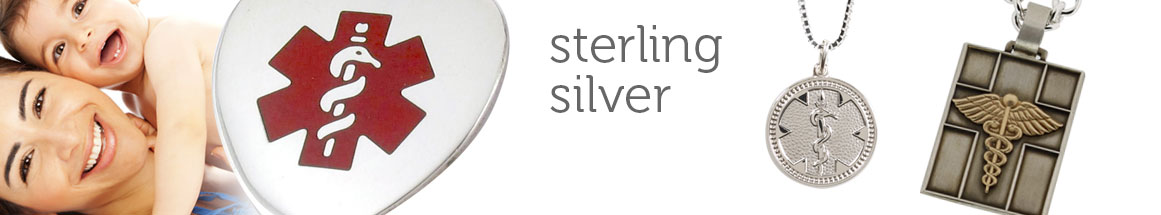 Sterling Silver Medical ID Necklaces