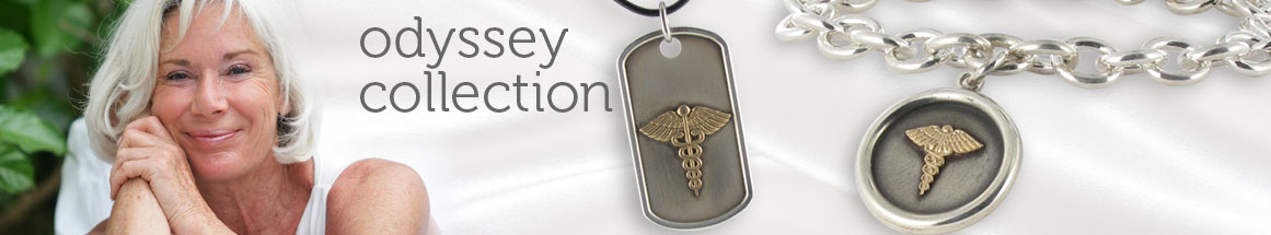 Gold on Sterling Silver Medical ID Necklace