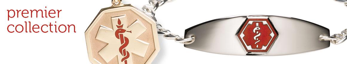 14K Gold Medical Alert Bracelets