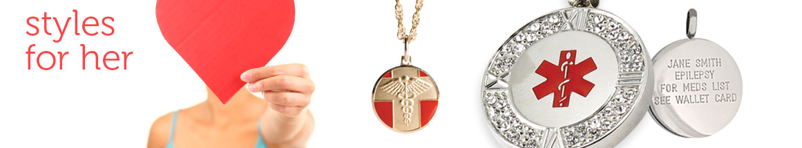Medical ID Necklaces for Women