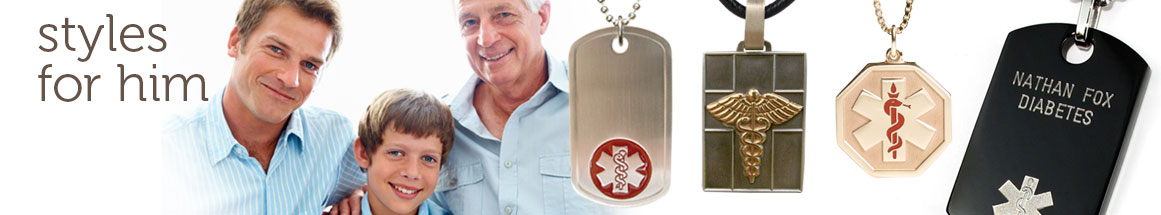 Medical ID Necklaces for Men