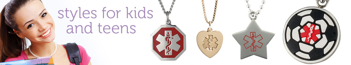 Medical ID Necklaces for Kids