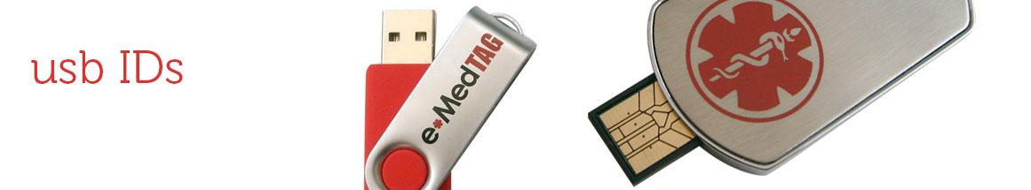 USB Medical ID Bracelets and Dog Tags