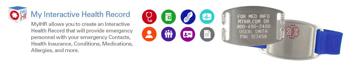 My Interactive Health Alert Bracelets