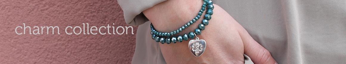 Gold and Sterling Silver Medical Charm Bracelets