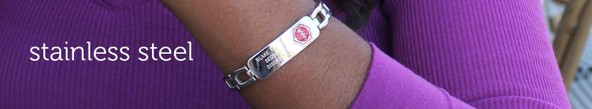 Stainless Steel Medical ID Bracelets
