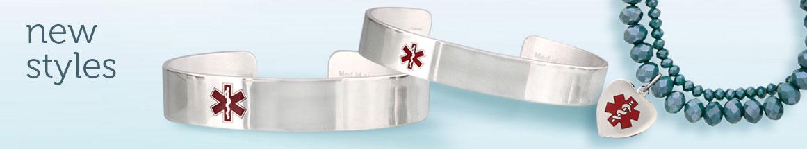 New Stylish Medical ID Bracelets