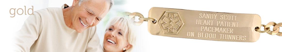 14Kt Gold Medical ID Bracelets