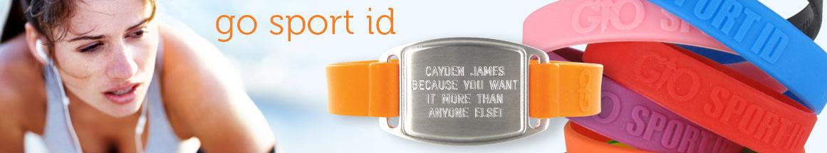 Go Sport ID Engraved Jewelry