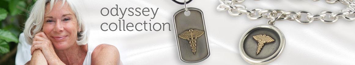 Gold on Sterling Silver Medical ID Bracelets