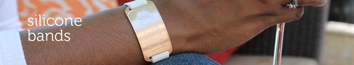 Rubber Medical ID Bracelets