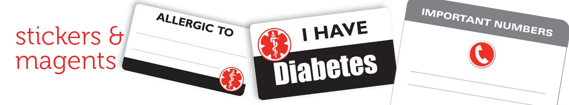 Medical Alert Magnets and Stickers