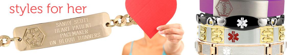 Medical Alert Bracelets For Women