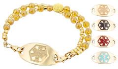 Gold Mingle Medical ID Bracelet on Cleo Bead Band