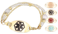 Gold Mingle on Brilliance Medical ID Bracelet