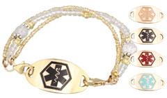 Gold Mingle on Brilliance Medical ID Bracelet