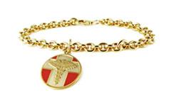 Gold Vintage Charm Medical Alert Bracelet