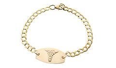 Gold Prestige Medical ID Bracelet