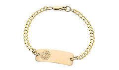 Gold Toddler Classic Food Allergy Bracelet