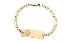 Gold Toddler Classic Food Allergy Bracelet