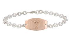 Rose Gold Prestige Medical ID Bracelet with Diamond