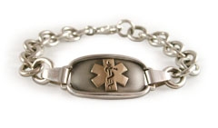 Odyssey Elite Gold and Sterling Silver Medical ID Bracelet