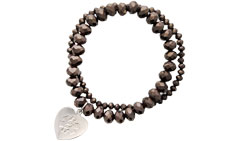 Allure Medical ID Charm Bracelet Embossed in Chocolate