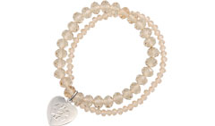 Allure Medical ID Charm Bracelet Embossed in Champagne
