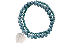 Allure Medical ID Charm Bracelet Embossed in Teal