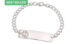 Sterling Silver Classic Medical ID Bracelet
