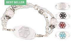 Silver Mingle on Vintage Crystal