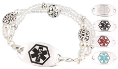 Silver Mingle Med Bracelet on Harmony Bead Band