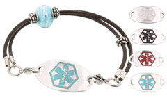 Silver Mingle on Western Shine Medical ID Bracelet