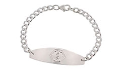 Sterling Silver Premier Medical ID Bracelet