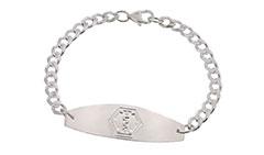 Sterling Silver Premier Medical ID Bracelet
