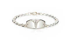 14Kt, 10Kt and Sterling Silver Prestige Medical Alert Bracelet