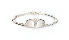 14Kt, 10Kt and Sterling Silver Prestige Medical Alert Bracelet