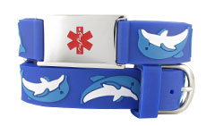 Dolphin Action Children Medical Alert Bracelet