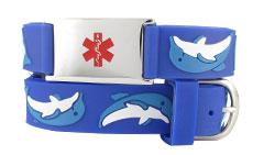 Dolphin Action Children Medical Alert Bracelet