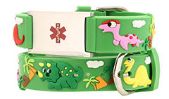 Dinosaur Action Bracelet Kids Medical ID Bracelet