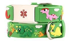 Dinosaur Action Bracelet Kids Medical ID Bracelet