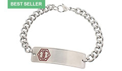 Stainless Steel Medical Alert Bracelet