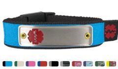 Nylon Diabetes Medical ID Sportband Bracelet