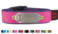 Nylon Active Sportband Medical ID Bracelet