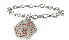 Stainless Steel Small Classic Charm Medic ID Bracelet