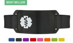 Onyx Large Silicone Flex Medical ID Sport Bracelet