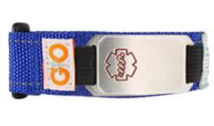 Stainless Steel Velcro Flex Sportband Medical ID Bracelet
