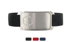 Stainless Steel Large Sportband Flex Medical ID Bracelet