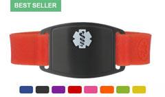 Onyx Small Silicone Flex Medical ID Sport Bracelet