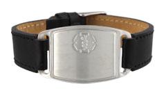 Stainless Steel Small Leather Flex Medical Alert Bracelet
